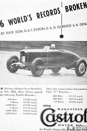 <b>World records 1930s Castrol</b> <br/> Castrol Oil Advertising 1930s