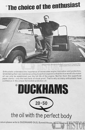<b>DUCKHAMS Oil mini ken costello</b> <br/> Duckhams Oil Advertising from the 1960s