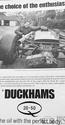 <b>DUCKHAMS Q20 50 Oil  ADVERT</b> <br/> Duckhams Oil Advertising from the 1960s