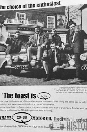 <b>DUCKHAMS Q20 50 toast</b> <br/> Duckhams Oil Advertising from the 1960s