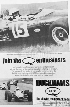 <b>DUCKHAMS Q20 50 Oil-ENTHUSIASTS mallory</b> <br/> Duckhams Oil Advertising from the 1960s