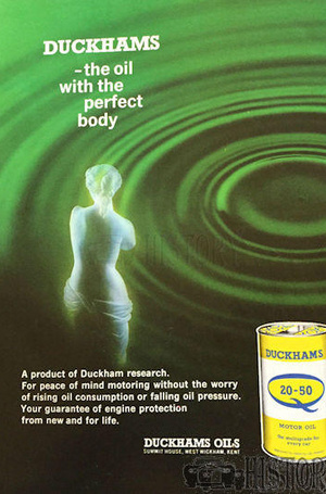 <b>DUCKHAMS Q20 50 Oil perfect</b> <br/> Duckhams Oil Advertising from the 1960s