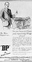 <b>BP 1923 clean sparking plugs</b> <br/> BP Company Advertising 1920s