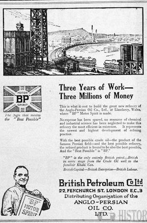 <b>BP 1923 wales refinery
