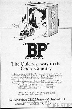 <b>BP 1924 quickest way</b> <br/> BP Company Advertising 1920s