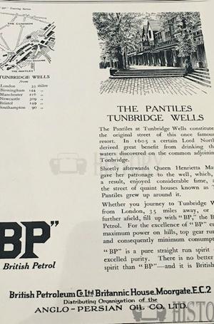 <b>BP 1926 pantiles tunbridge wells</b> <br/> BP Company Advertising 1920s
