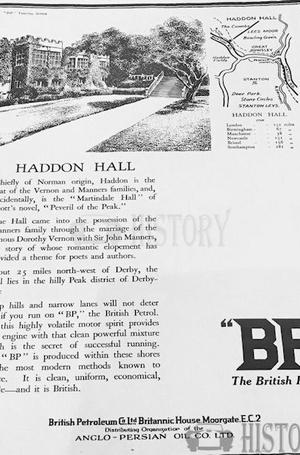 <b>BP 1926 haddon hall</b> <br/> BP Company Advertising 1920s