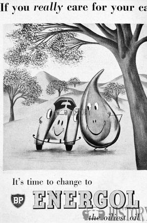 <b>BP 1953 energol oil</b> <br/> BP Advertising from the 1950s