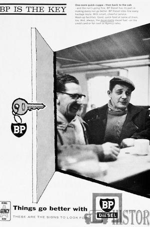 <b>BP 1963 THE KEY DIESEL</b> <br/> BP Advertising from the 1960s