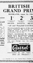 <b>Grand Prix Bentley Castrol</b> <br/> 1920's adverts for Wakefield Castrol oil