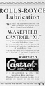 <b>Roils Royce</b> <br/> 1920's adverts for Wakefield Castrol oil