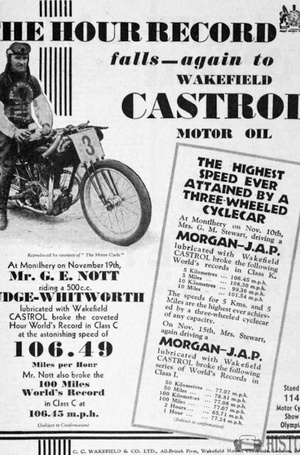 <b>World Records Castrol Oil</b> <br/> 1920's adverts for Wakefield Castrol oil