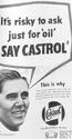 <b>Castrol Oil Geoff Davis 1956</b> <br/> Castrol Oil Advertising 1950s