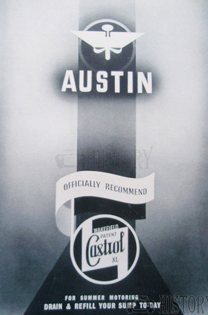 <b>CASTROL OIL old vintage advert 1937 feat AUSTIN</b> <br/> Castrol Oil Advertising 1930s