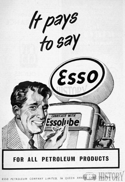 <b>1951 Esso pays fuel</b> <br/> ESSO Advertising from the 1950s