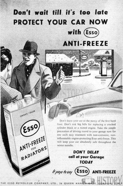 <b>1953 Esso antifreeze</b> <br/> ESSO Advertising from the 1950s