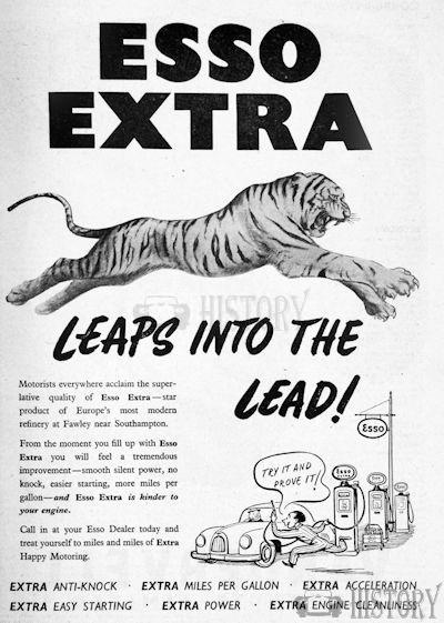 <b>1953 Esso tiger leap</b> <br/> ESSO Advertising from the 1950s