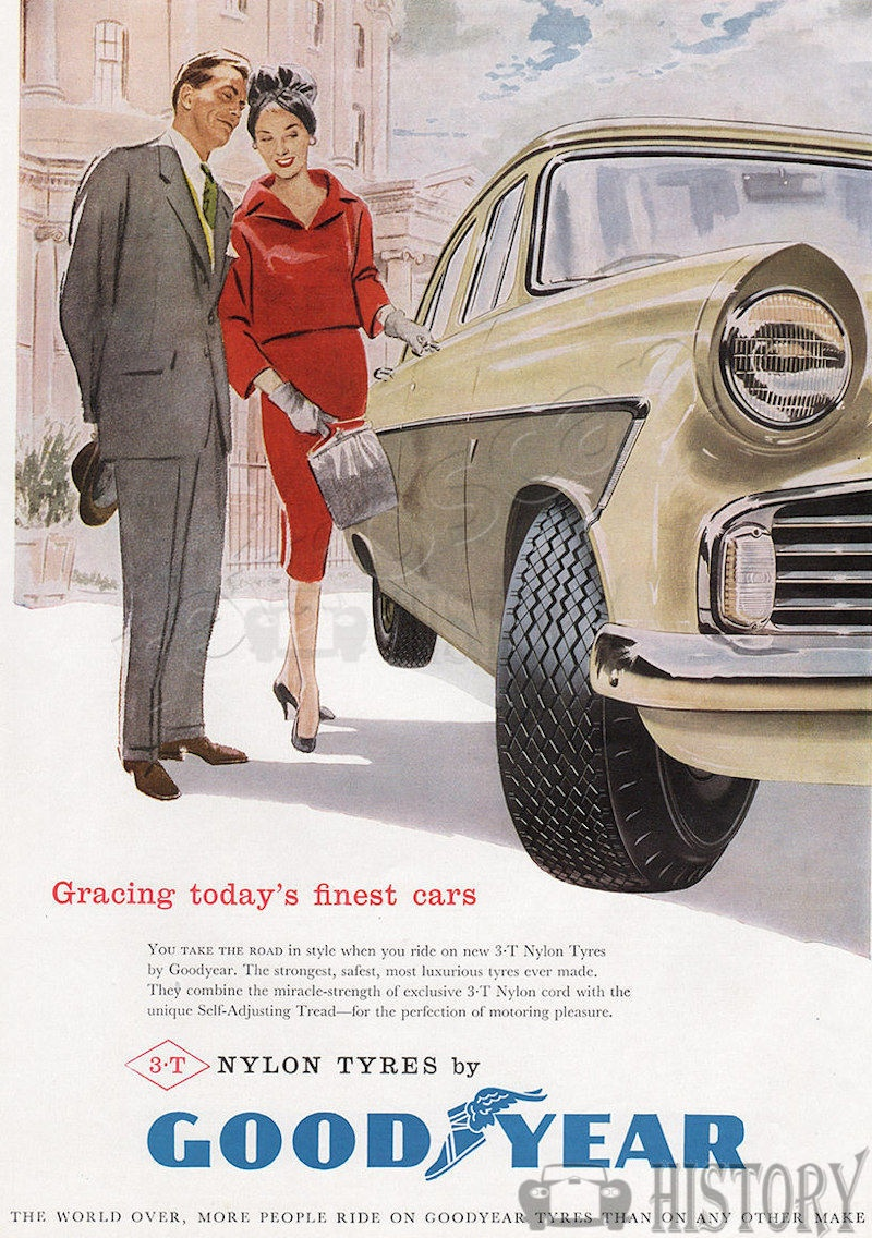 <b>1958 Goodyear Tyres</b> <br/> GOODYEAR advertising from the 1950s