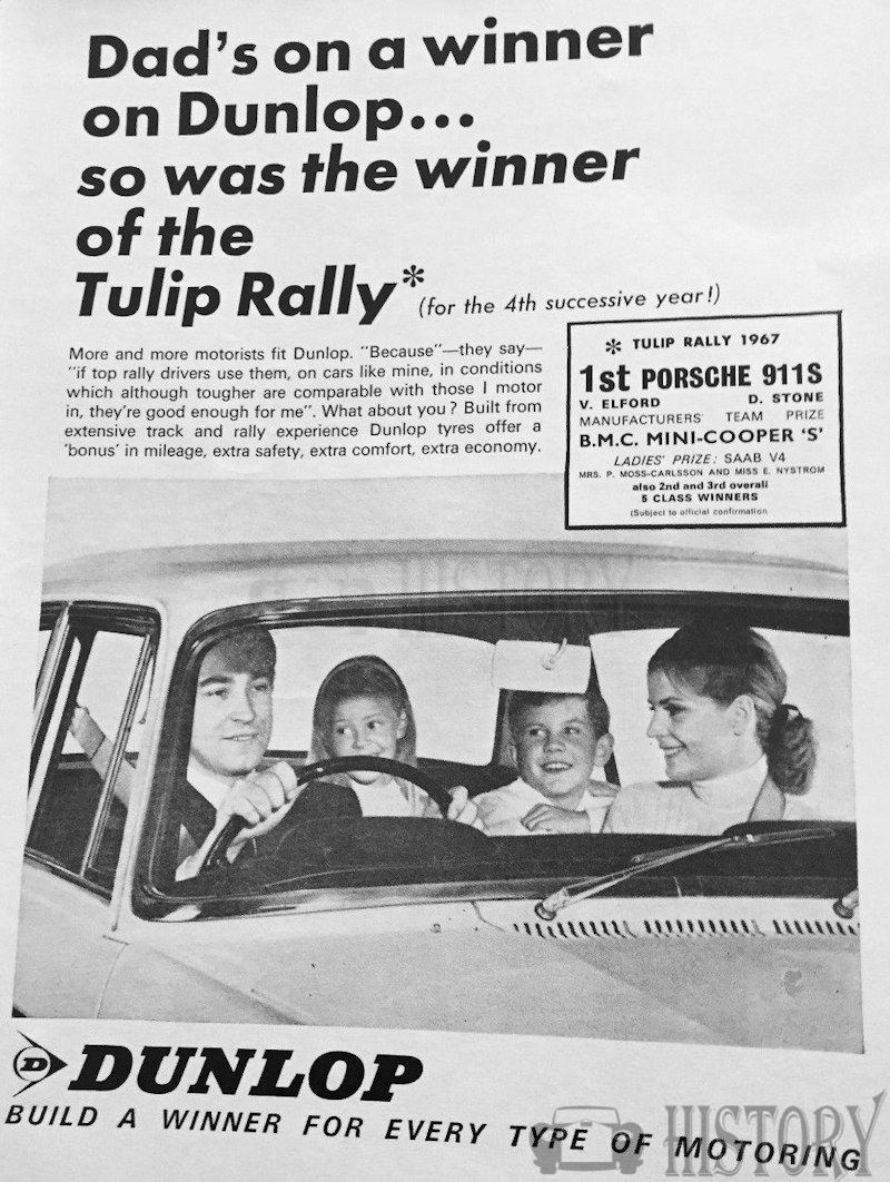 <b>1960s DUNLOP TYRES TULIP RALLY