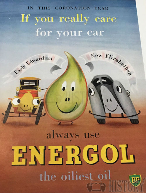 <b>BP 1953 energol oiliest oil</b> <br/> BP Advertising from the 1950s