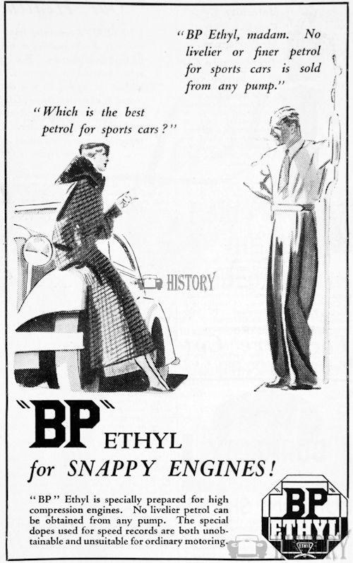 <b>bp 1934 ethyl snappy engines</b> <br/> British Petroleum  Advertising 1930s