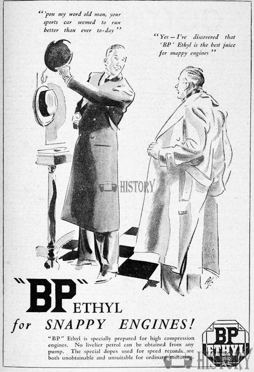 <b>bp 1935 high compresion engines</b> <br/> British Petroleum  Advertising 1930s