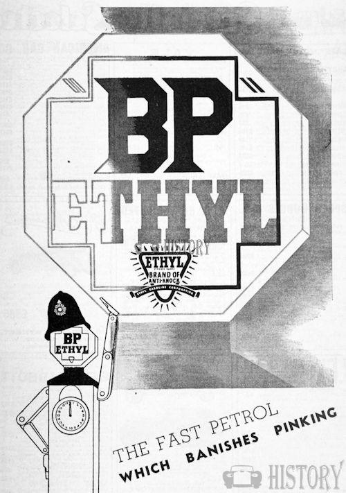 <b>bp 1936 banishes pinking</b> <br/> British Petroleum  Advertising 1930s
