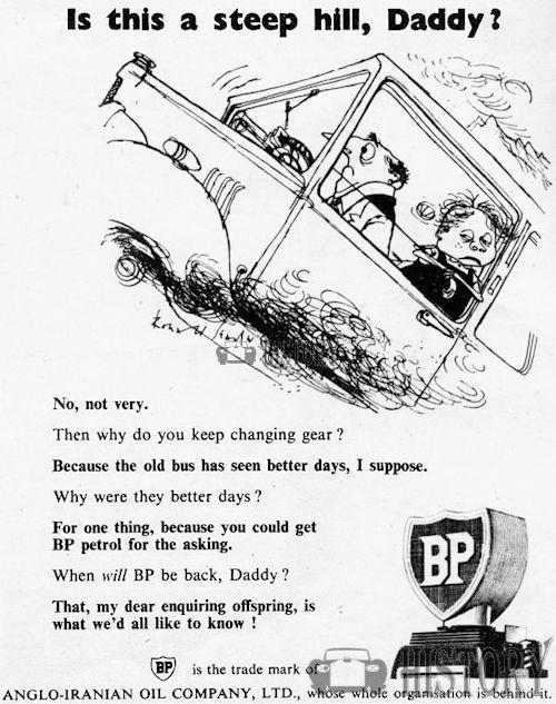 <b>BP 1950 steep hill</b> <br/> BP Advertising from the 1950s