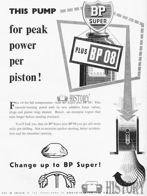 <b>BP 1954 super fuel</b> <br/> BP Advertising from the 1950s