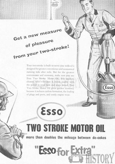<b>ESSO 1957 2 stroke-oil</b> <br/> ESSO Advertising from the 1950s