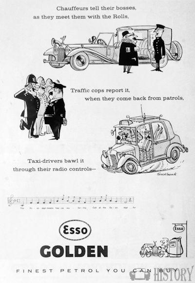 <b>Esso 1961 golden fine</b> <br/> ESSO Advertising from the 1960s