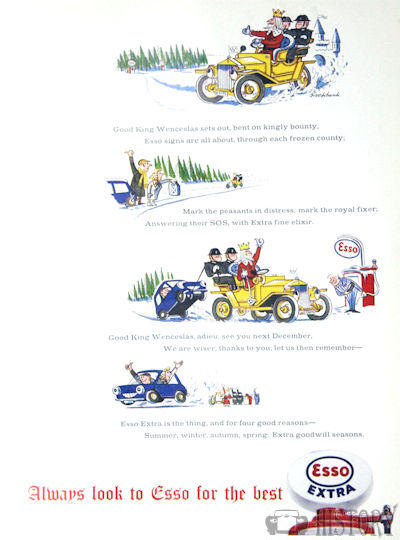 <b>Esso 1963 christmas add</b> <br/> ESSO Advertising from the 1960s