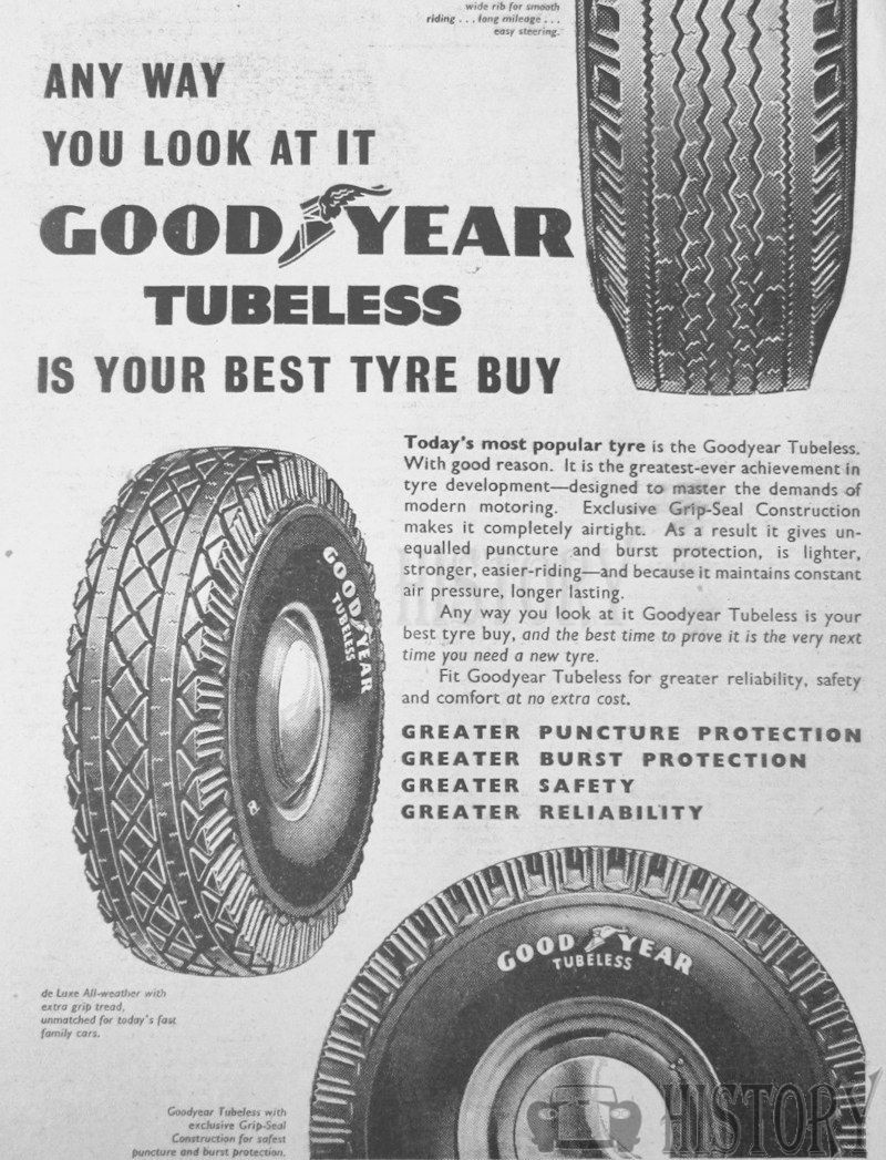 <b>GOOD YEAR TYRES 1956</b> <br/> GOODYEAR advertising from the 1950s