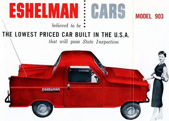 Eshelman Automotive manufacturer of Baltimore Maryland; United States from 1953 to 1961.