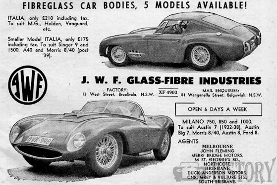 Australia - JWF Fiberglass (1959-1969)