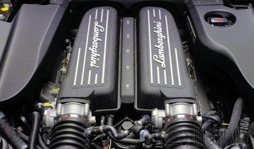 Lamborghini 5 2 v10 engine view