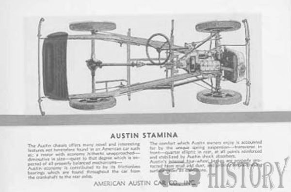 American Austin Car Company American Automotive manufacturer Indiana ,USA chassis