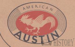 American Austin Car Company American Automotive manufacturer Indiana ,USA  from 1929 to 1956
