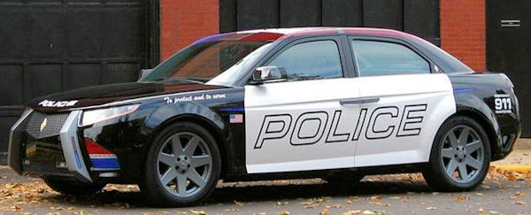 police cars usa side