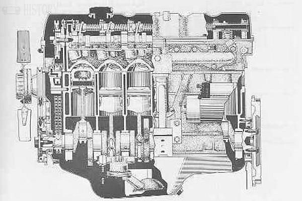 Toyota M engines 1970-Toyota Crown 2m Engine x ray view
