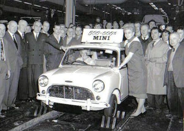 Austin Mini Cooper Mk-1 500,000th Mini off Production-Line.