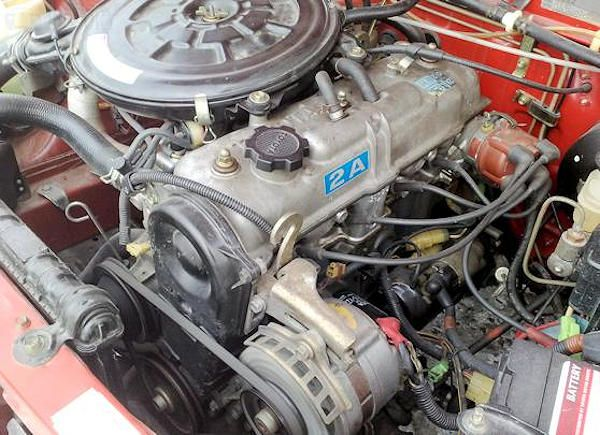Toyota 2A Engine range and history