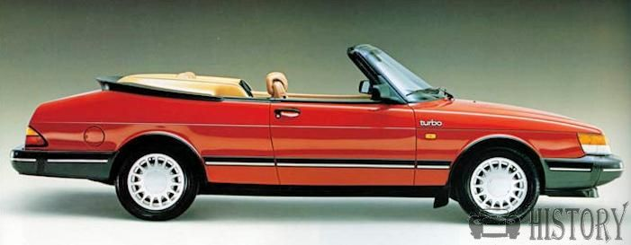 1988 Saab 900 Turbo Convertible side view