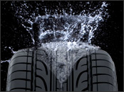Car tyre Aquaplaning