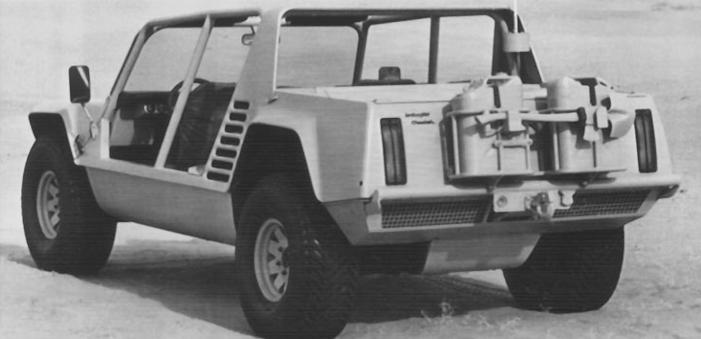 Lamborghini Cheetah prototype rear view
