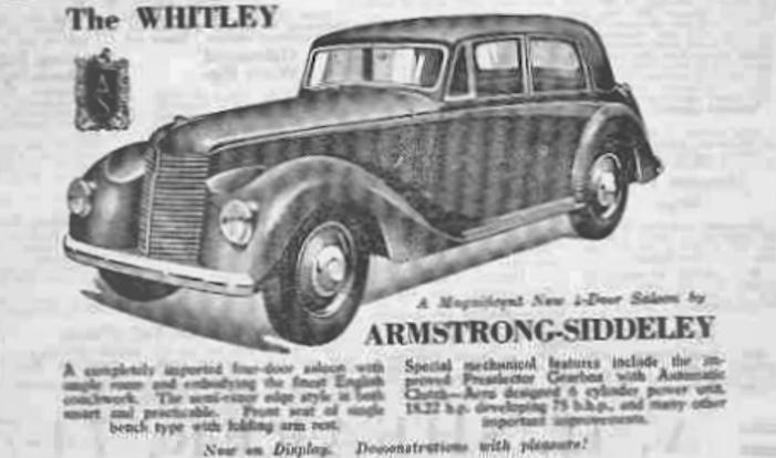 Armstrong Siddeley Whitley history