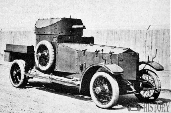 Armoured Car on 'Rolls-Royce' Silver Ghost Chasis.