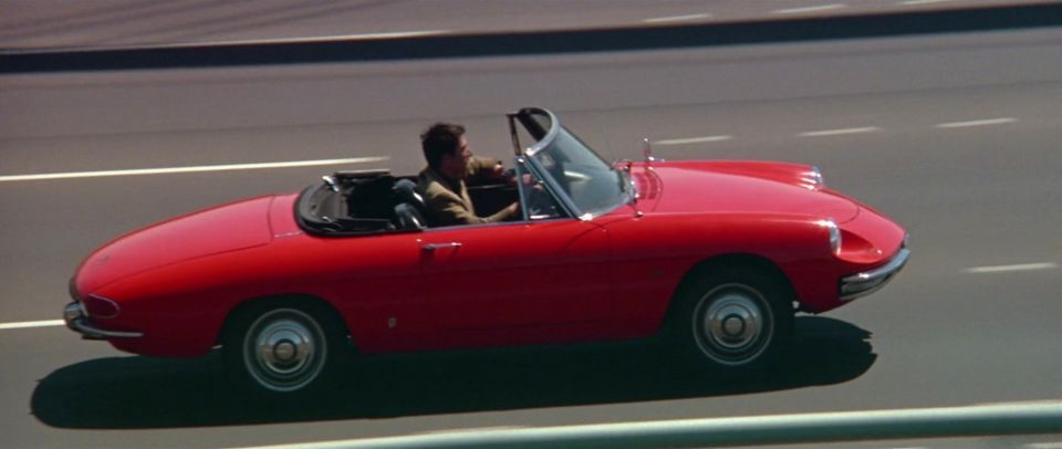 A Alfa Romeo Spider 1600  in The Graduate, Movie (1967)