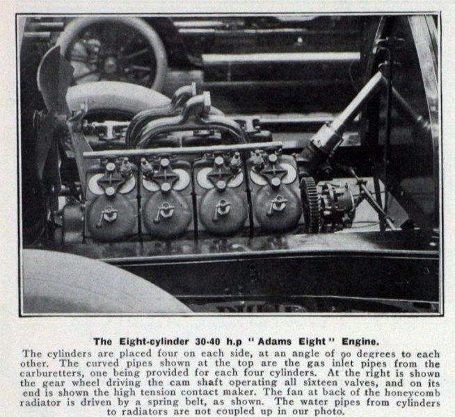 Adams early v8 engine 1900s