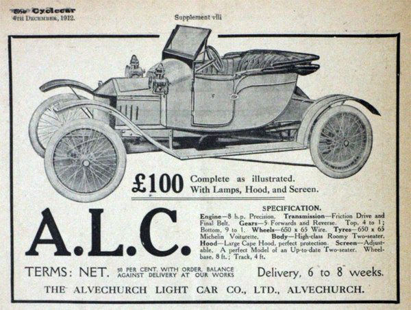 Alvechurch Alc Cars veteran